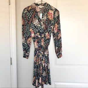 Ann Taylor Loft Long Sleeve Floral Dress Size 00P